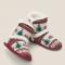 Pantoffellaarsjes met kerstprint