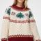 Kerstsweater met bomen