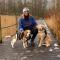Redactrice Jolien (23) + beagle Ollie (3) en golden retriever Ludo (7 maanden)