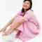 Roze maxi-jurk