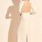Maxi-jurk met kanten details en driekwartmouwen
