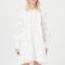 Mini-jurk met ballonmouwen in jacquard