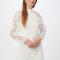 Mini-jurk met transparante mouwen en borduursels