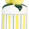 Porseleinen pot met deksel met citroenen