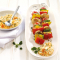 Brochettes de légumes et trempette au fromage de chèvre (4 points)