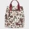 Werktas in bloemenprint (kan ook als rugzak)