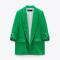 Groene blazer met oprolbare mouwen