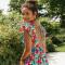 Lange jurk in bloemenprint
