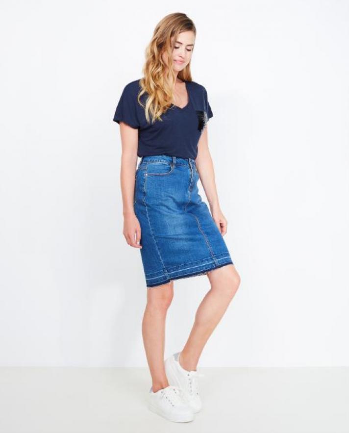 La jupe mi-longue