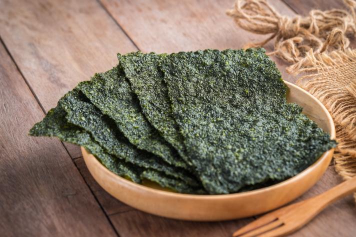 Des algues vertes – la nori