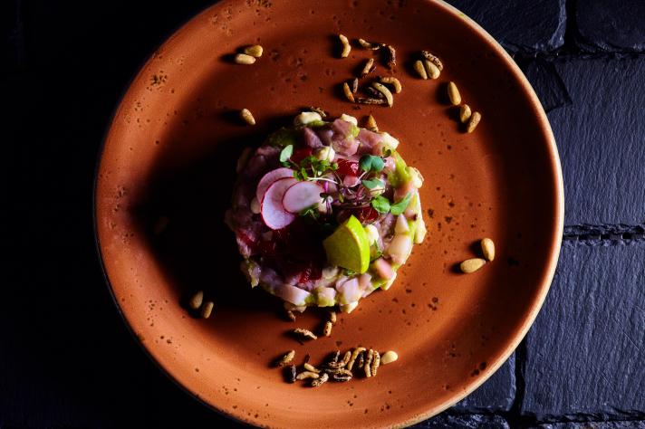 Ceviche de daurade au piment et gingembre