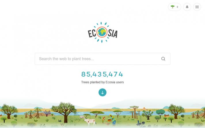 Planter des arbres avec Ecosia