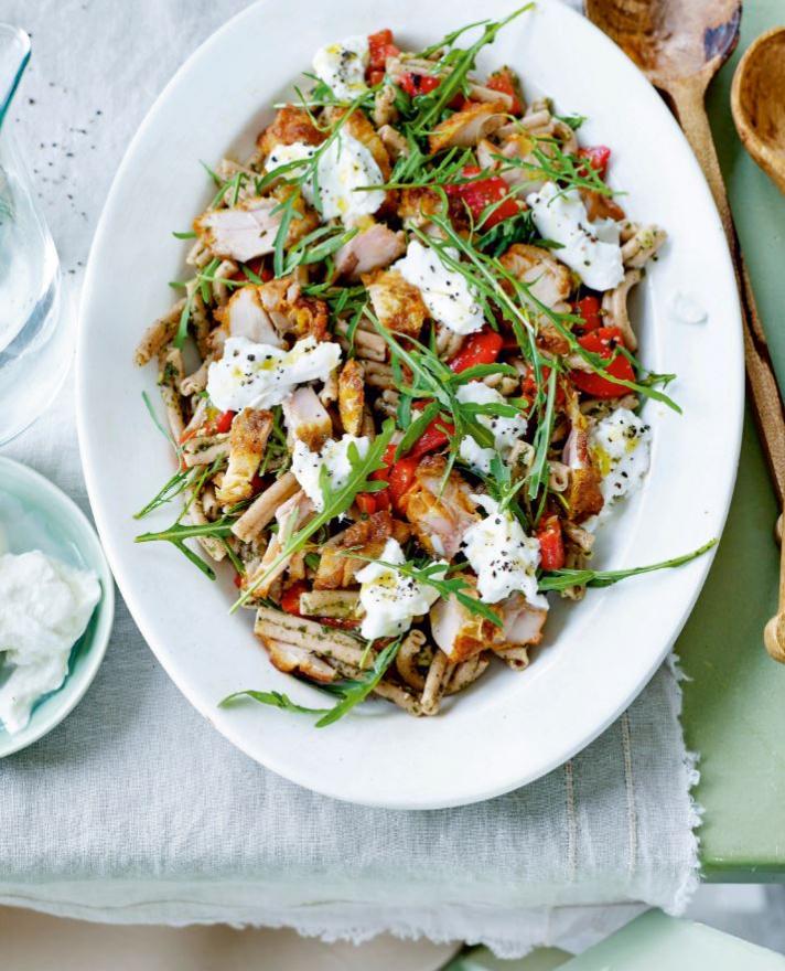 Salade de pâtes complètes au paprika