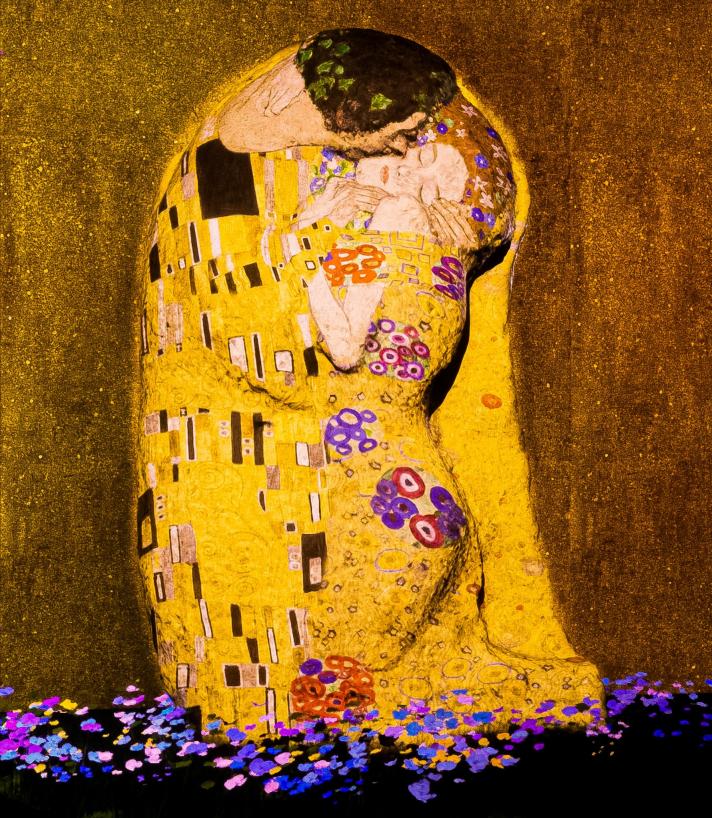 Gustav Klimt, The Immersive Experience à la Galerie Horta: la plus interactive