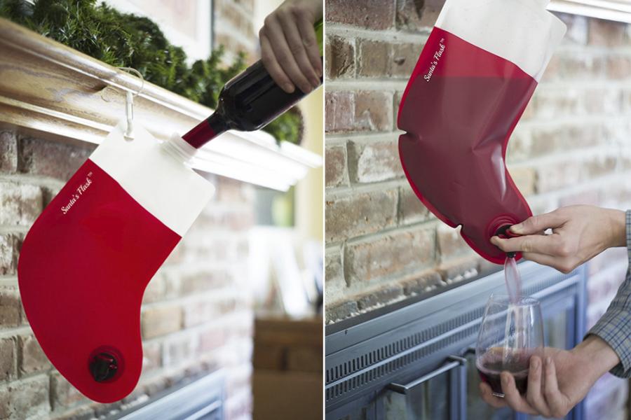 Kerstsok Santa Flask