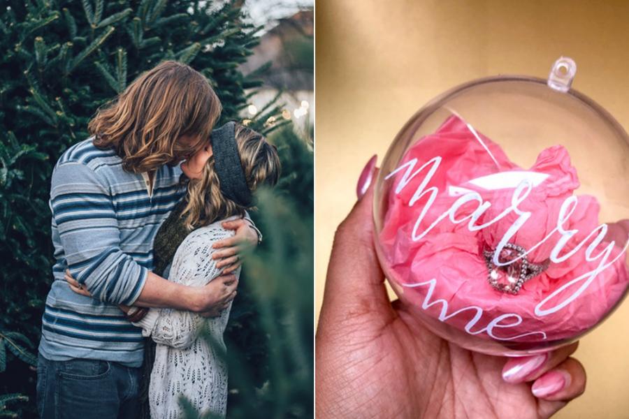 Huwelijksaanzoek kerstballen