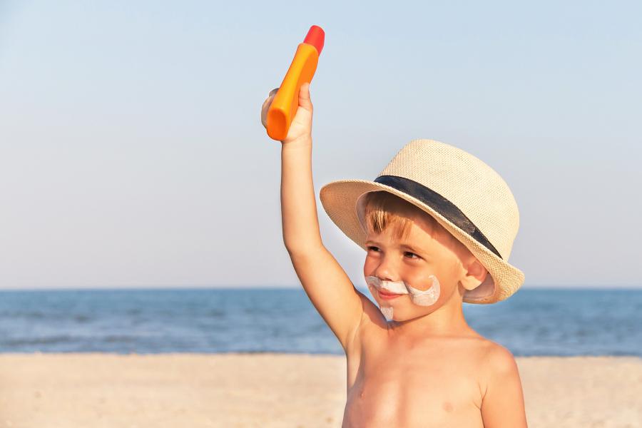 crème solaire enfants