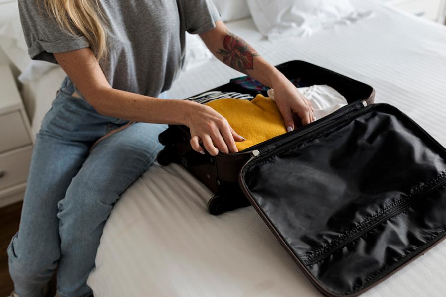 Koffer op hotel