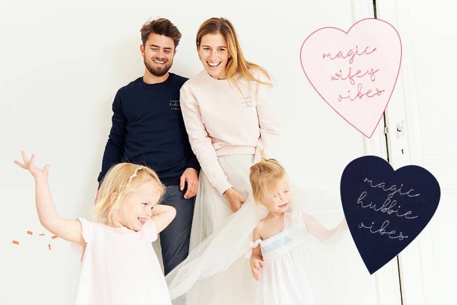 'Hubbie' en 'wifey'-sweaters