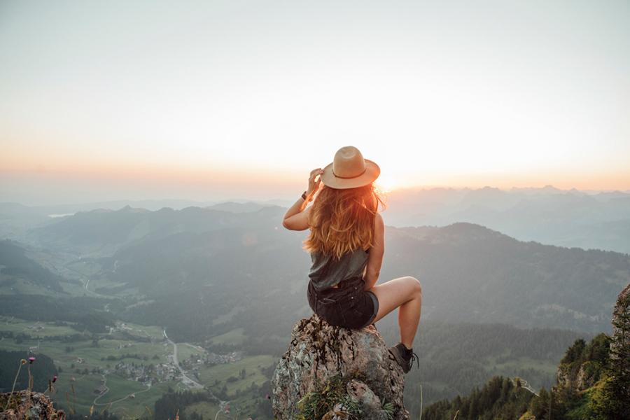 Vrouw op reis