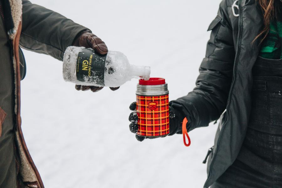 Boire de l'alcool en hiver