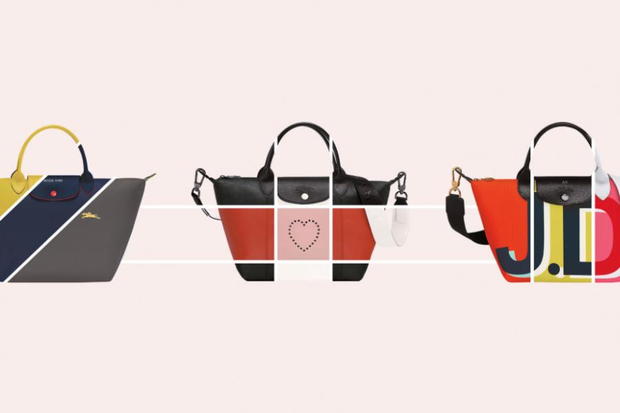 Longchamp sort une version de son Pliage 100% personnalisable