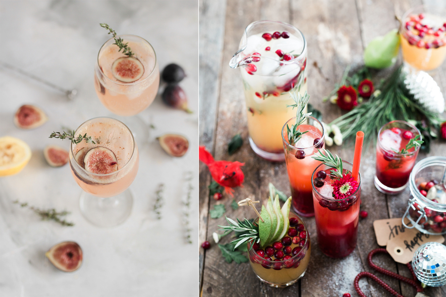 Alcoholvrije cocktails voor Kerstmis