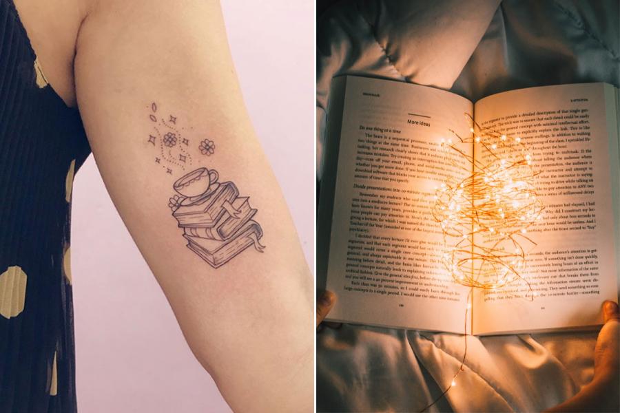 tattoos voor boekenwurmen