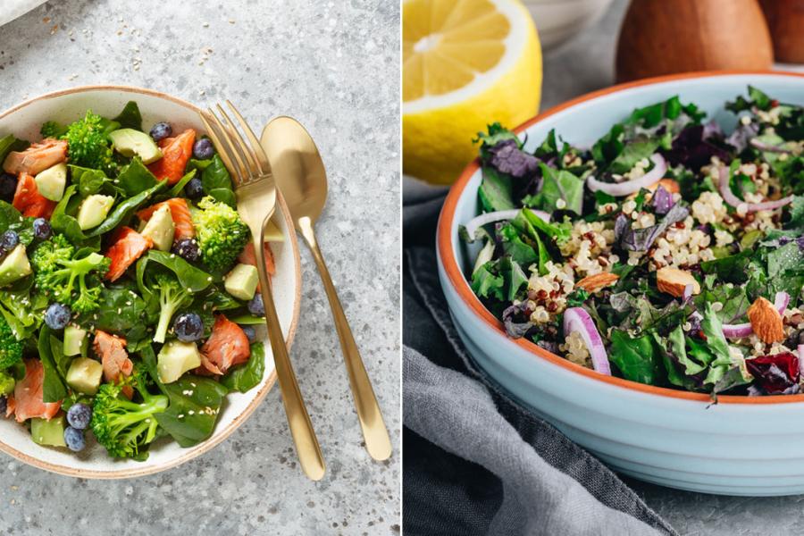 groentesalades met fruit