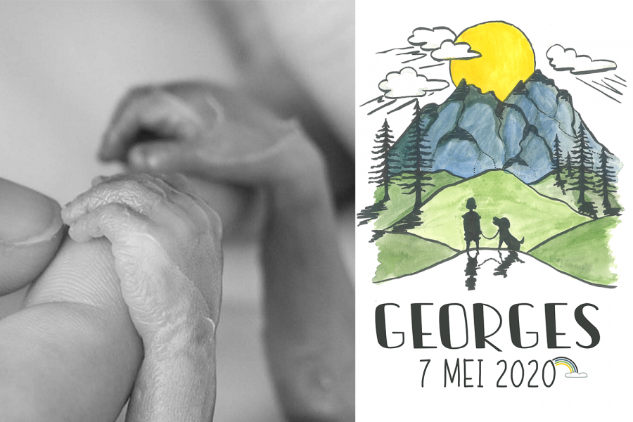 Georges werd stil geboren
