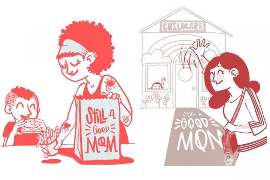 illustraties mama's