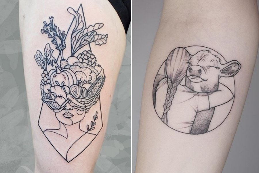 tattoos vegetariërs