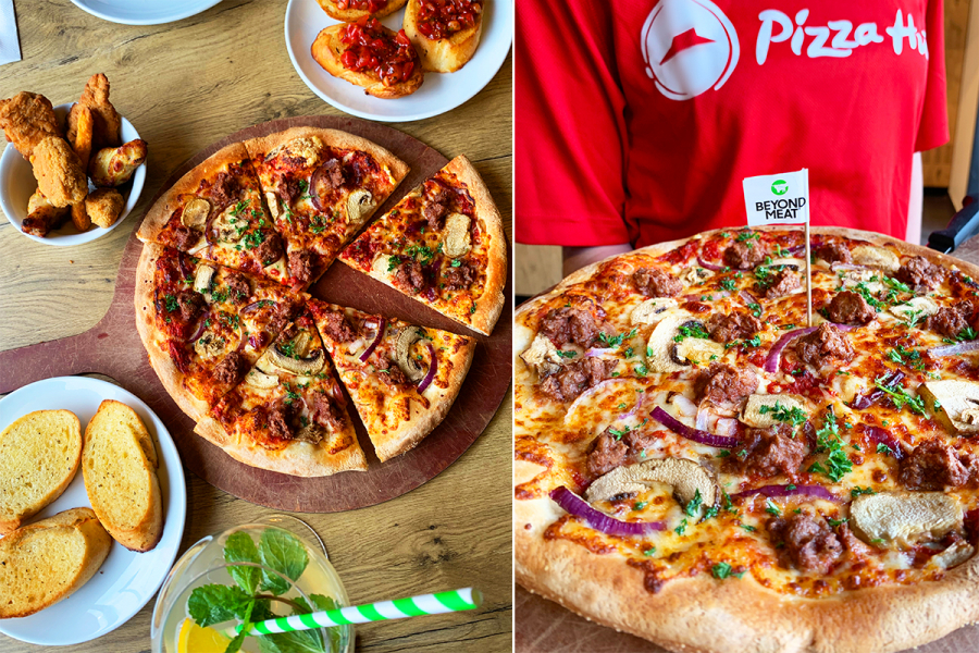 pizza hut plantaardige pizza