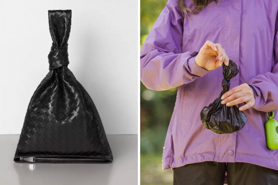 Bottega Veneta imagine un sac à crottes de luxe - Montage Flair - Photos Bottega Veneta & Getty Images