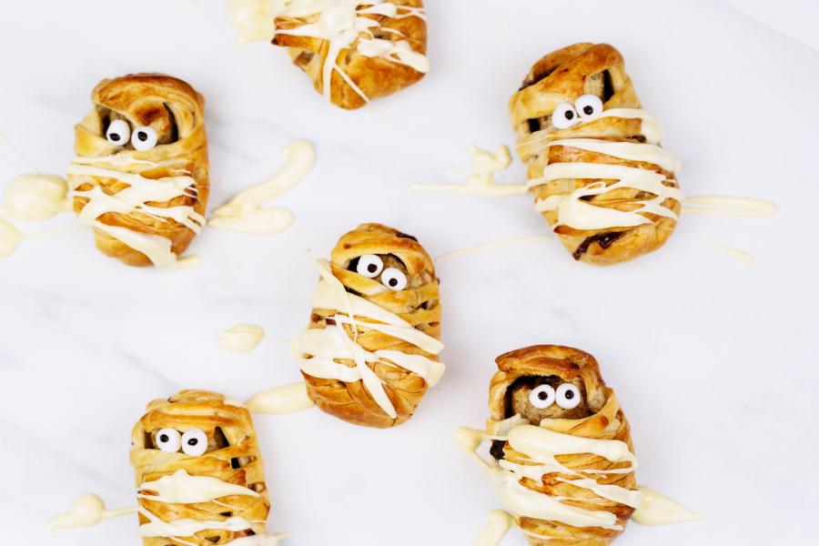 Nutella-banaan-mummy's