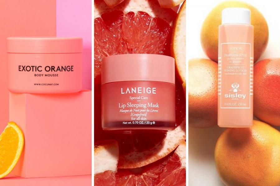 10 produits de beauté au parfum d'agrumes - Montage Flair DR