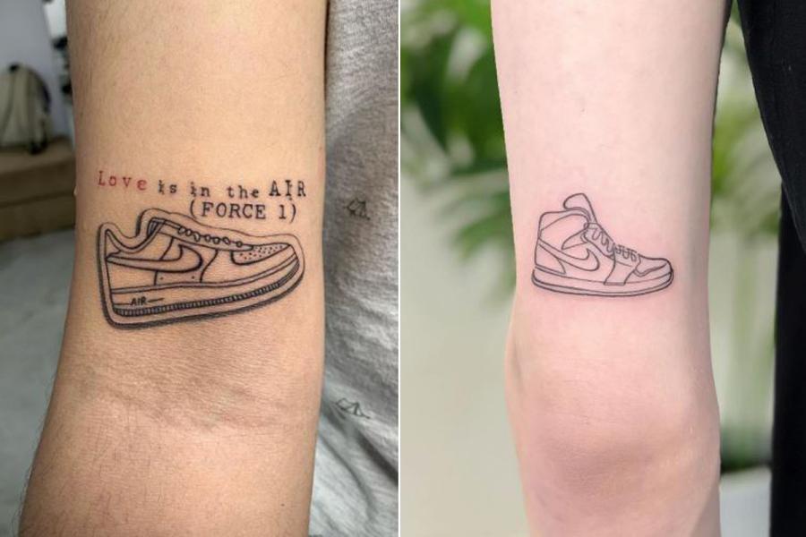 tattoos sneakers