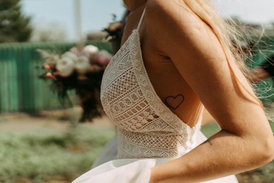 Bruid op trouwdag