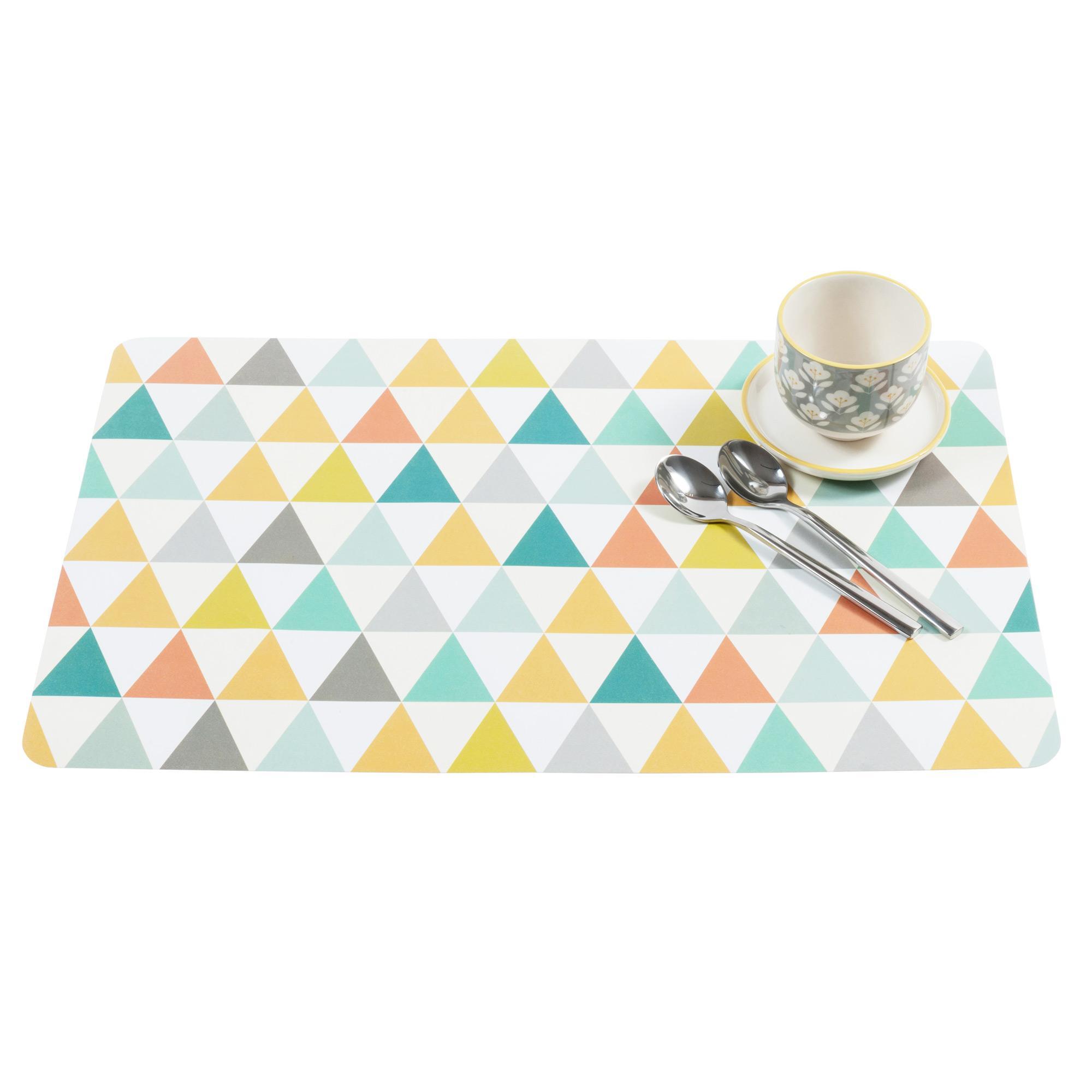 Maison Du Monde Set De Table Motifs Triangle Gael Be