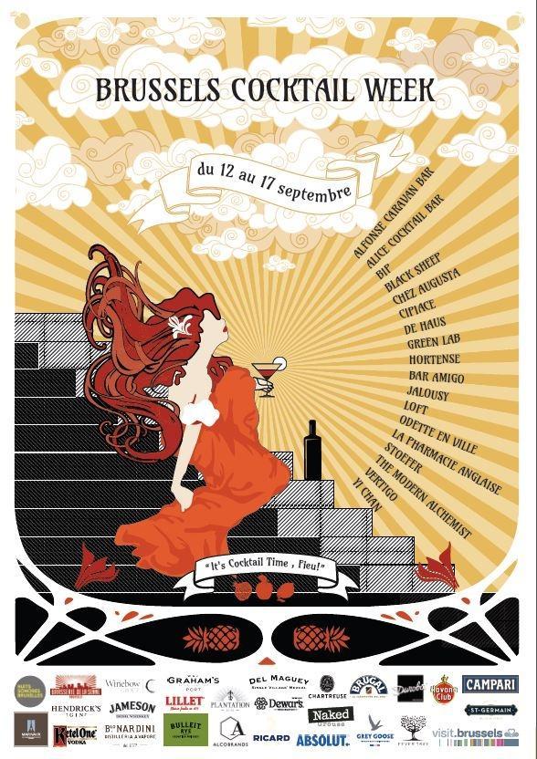 Du 12 au 17 septembre venez découvrir la Brussels Cocktail Week