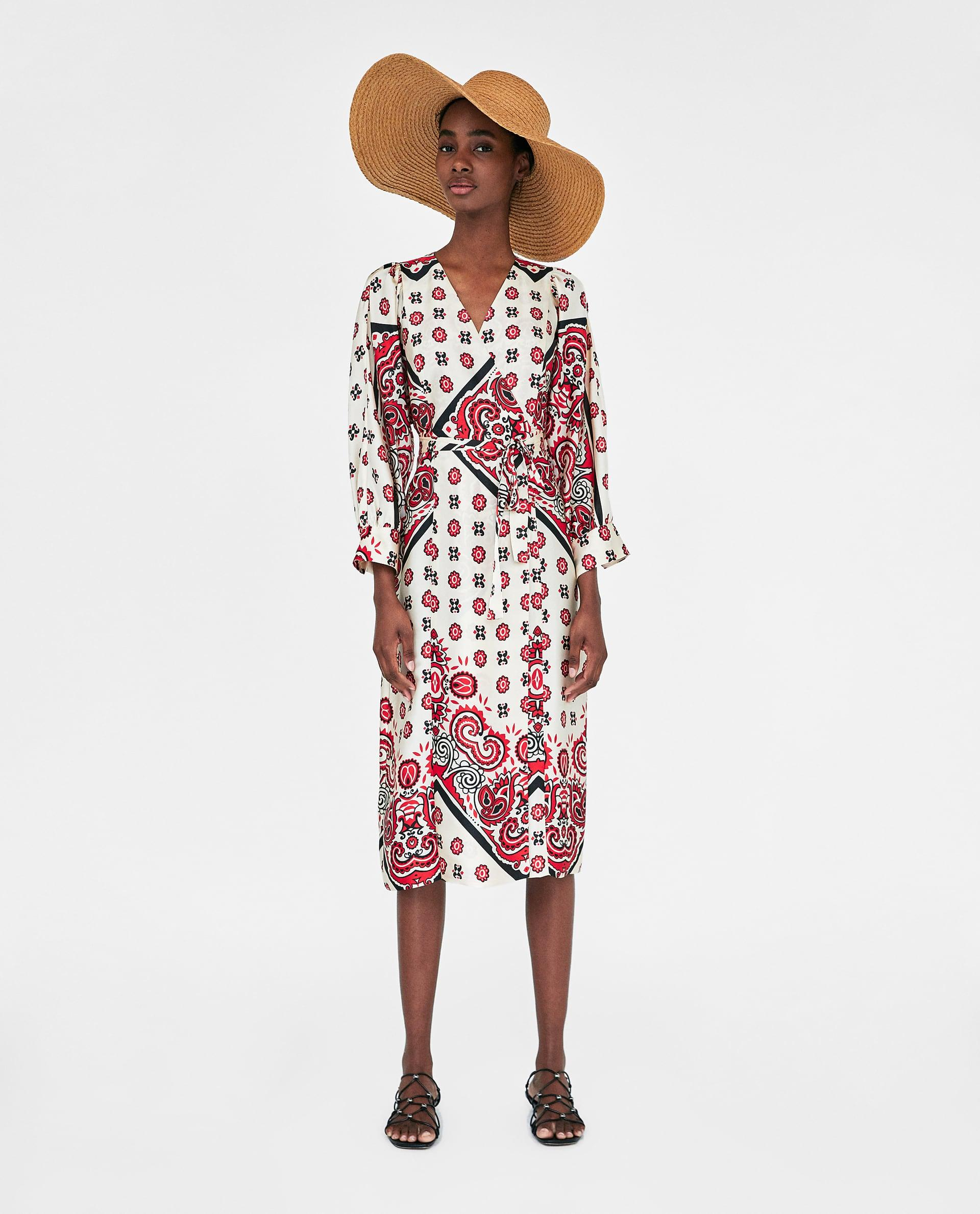 Robe Cache Coeur Imprime Oriental Zara Gael Be