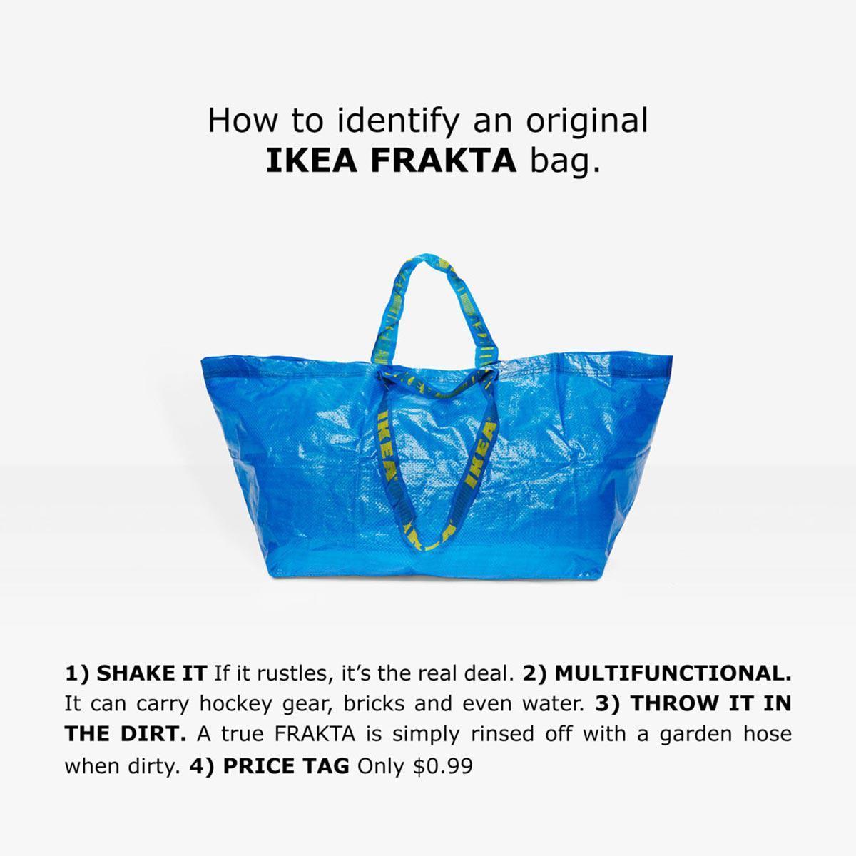 Pub Ikea sac Farkta en réponse à Balenciaga