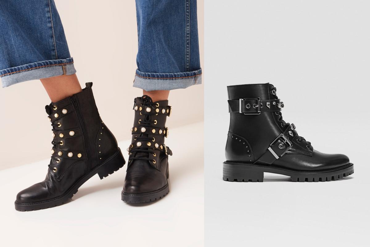 Hedendaags 13 paar zwarte leren laarzen die je winteroutfit een stoere PO-48