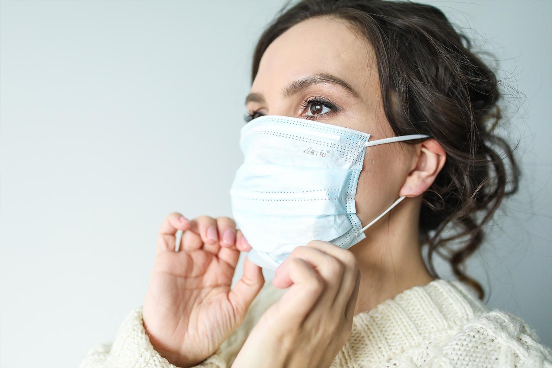 masque buccal tissu