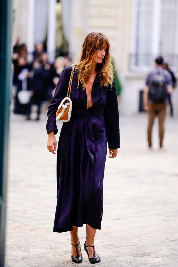 Parisienne look blauw