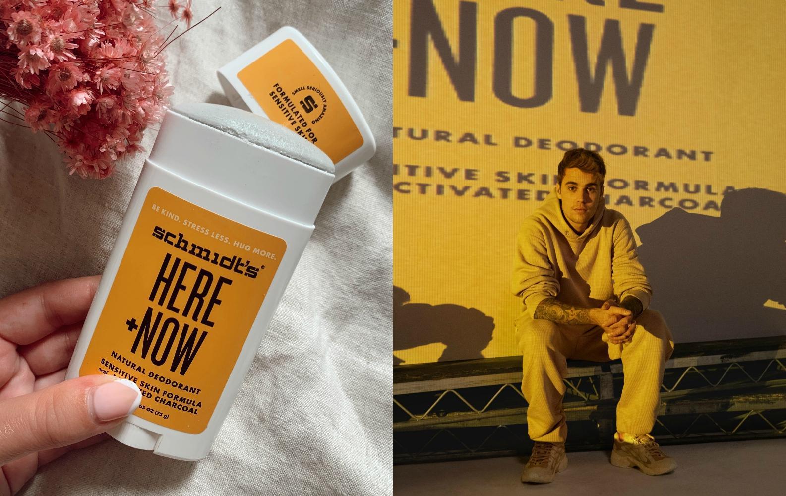 BEAUTY LAB: on a testé le déodorant naturel Here+Now de Justin Bieber et Schmidt's