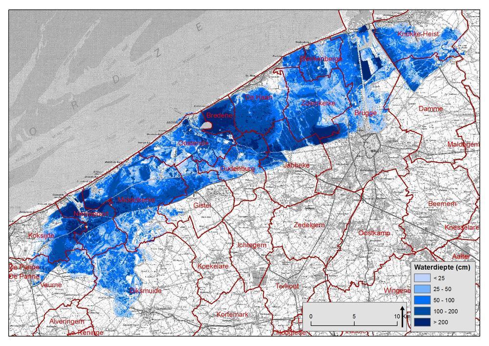 Op deze kaart zie je de gevolgen van een 4.000-jarige storm.