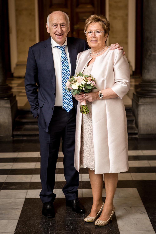 Jules Verriest en Andrea Cardon stapten donderdagmorgen in het huwelijksbootje.