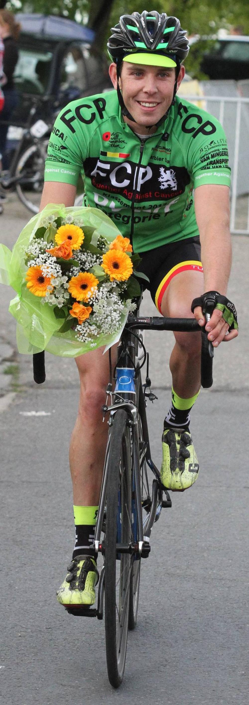 Davy Barbier boekte in Ledegem zijn tweede OVWF-zege. (GF)
