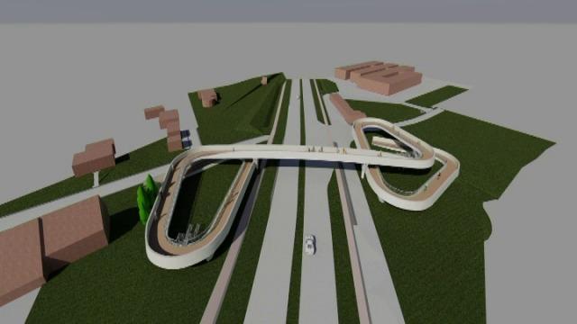 Aanleg fiets- en voetgangersbrug over N36 in Deerlijk